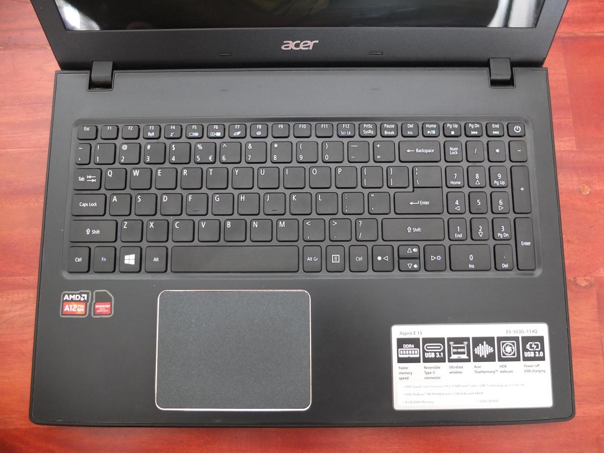 Jual Beli Laptop Kamera | surabaya | sidoarjo | malang | gersik | krian | Acer E5-55G AMD A12-9700P