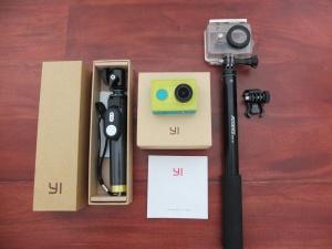 Xiaomi Yi Action Cam Monopod + Shutter YI Ori | Jual Beli Kamera Surabaya