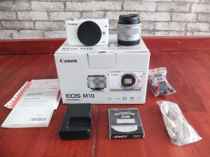 Canon M10 Kit 15-45mm Umur 4 Bulan Like New | Jual Beli Kamera Suarabaya