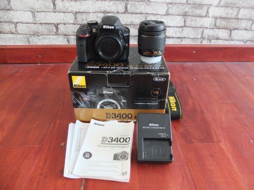 Nikon D3400 Kit 18-55mm VR2 Bluethoooth | Jual Beli Kamera Surabaya