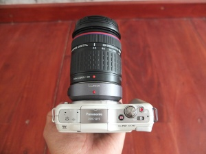 Lumix GF5 Zuiko 40-150mm + Converter DMW-MA1 | Jual Beli Kamera Surabaya