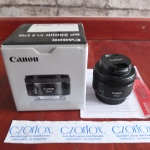 Lensa Canon Fix 50mm F1.8 STM Like New | Jual Beli Kamera Surabaya