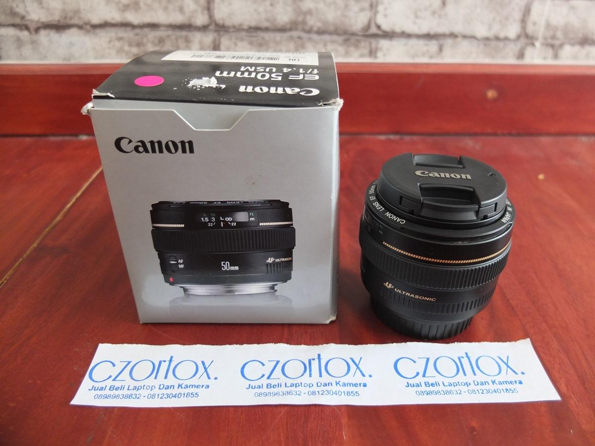 Jual Beli Laptop Kamera   surabaya   sidoarjo   malang   gersik   krian   Lensa Canon 50mm F1.4