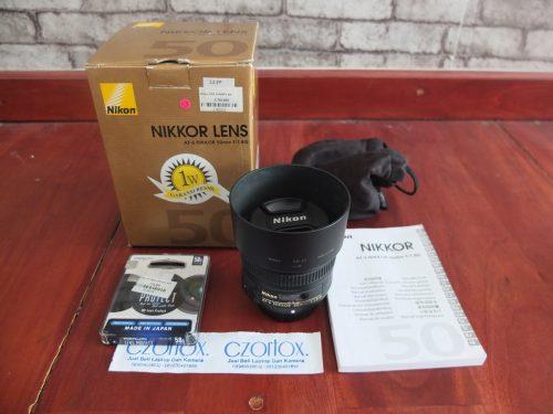 Lensa Nikon AFS 50mm F 1.8   Jual Beli Kamera Surabaya