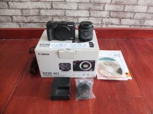 Canon M3 Kit 15-45mm STM Black Edition | Jual Beli Kamera Surabaya
