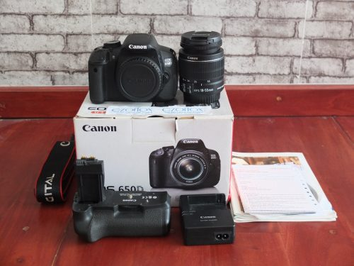 Canon 650D Kit 18-55mm SC 8.xxx Plus BG-E8 Ori | Jual Beli Kamera Surabaya