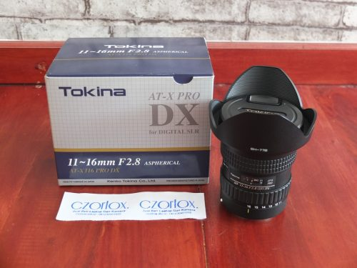 Lensa Tokina Pro AT-X 11-16mm F2.8 (IF) DX  for Canon | Jual Beli Kamera Surabaya