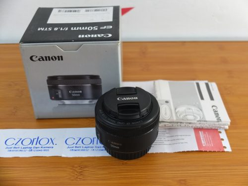 Lensa Canon Fix 50mm F1.8 STM | Jual Beli Kamera Surabaya