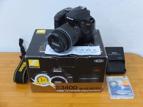 Nikon D3400 AFP 18-55mm VR II SC 17.xxx | Jual Beli Kamera Surabaya