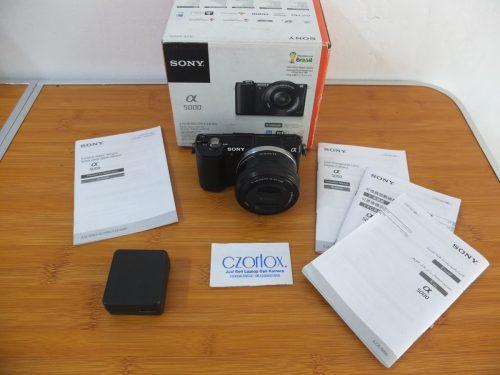 Sony A5000 Lensa 16-50mm OSS Black Istimewa SC 3.xxx