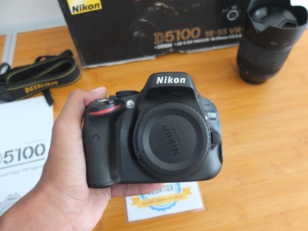 Jual Nikon D5100 Kit 18-105 mm VR SC 17 ribu Surabaya