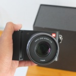 Mirrorless YI M1 Lensa Kit 42,5 mm F1.8 like new sensor sony