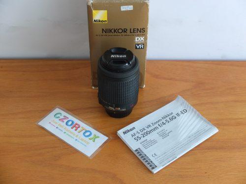 Lensa Nikon AF-S 55-200 mm Mulus