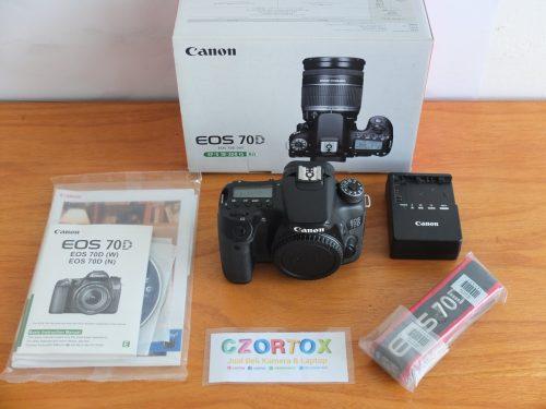 Canon EOS 70D Body Only Sc 11.xxx Mulus