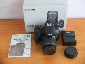 Canon 1300D Wi-Fi Lensa Kit 18-55mm Mulus