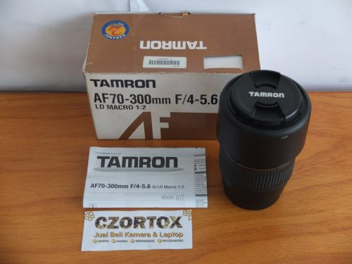 Lensa Tamron TELE-MACRO AF 70-300mm For Canon Like New