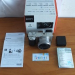 Sony A6000 Lensa 16-50mm OSS Silver Like New SC 165