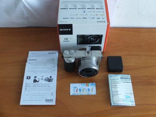 Sony A6000 Lensa 16-50mm OSS Silver Like New SC 165