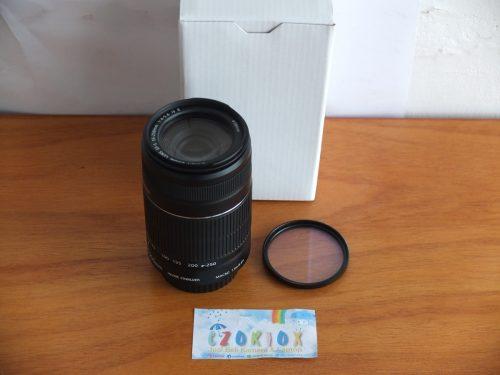 Lensa Tele Canon EF-S 55-250 IS II mm Mulus