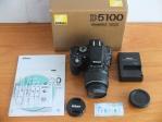 Nikon D5100 Kit AF-S Nikkor 18-55mm Mulus