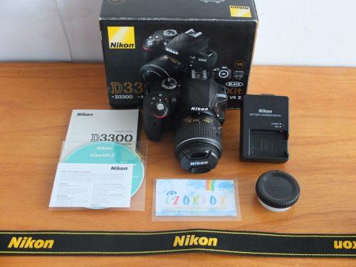 Nikon D3300 AF-S 18-55 mm VR II 24 MP Mulus Istimewa