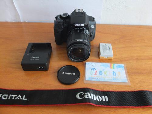 Canon 650D Lensa EF-S 18-55 mm IS II SC 1.xxx Like New