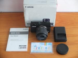 Canon M100 Kit 15-45mm Flip Screen Mulus Istimewa