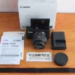 Canon M100 Kit 15-45mm Flip Screen Like New Umur 2 Minggu