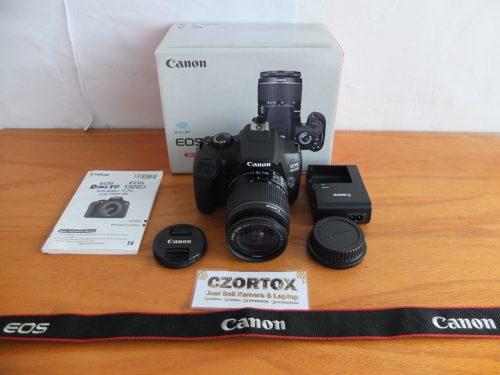 Canon 1300D Wi-Fi Lensa Kit 18-55mm Mulus
