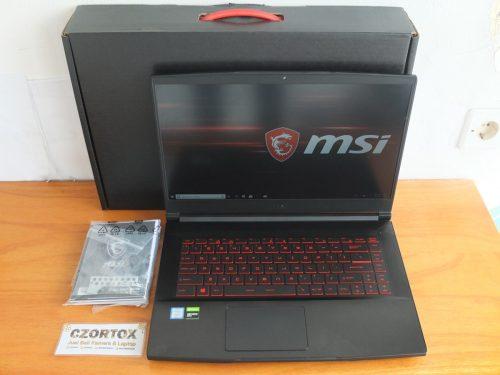 MSI GF63 9RCX Core i7-9750H Ram 8gb GTX 1050TI 4gb Umur 1 Bulan