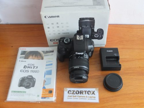 Canon EOS 1100D Lensa kit 18-55mm Mulus