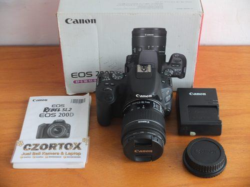 Canon 200D Kit 18-55mm Black Istimewa