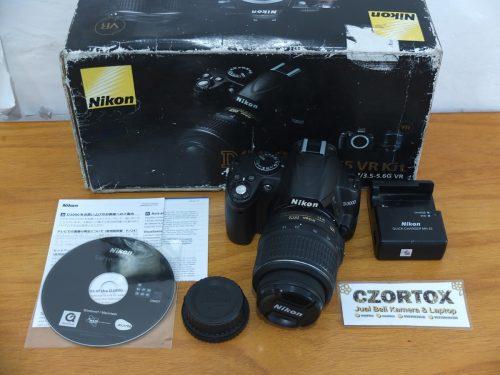 Nikon D3000 Lensa kit 18-55m Mulus DSLR Murmer