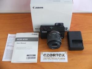 Canon M100 Kit 15-45mm Flip Screen Mulus Garansi Resmi