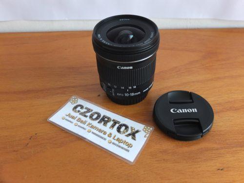 Lensa Canon EF-S 10-18mm IS STM Mulus