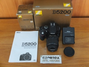 Nikon D5200 Kit 18-55mm SC 3.xxx Mulus