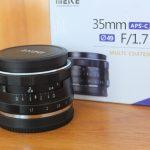 Lensa Meike 35mm f1.7 for Sony Mulus