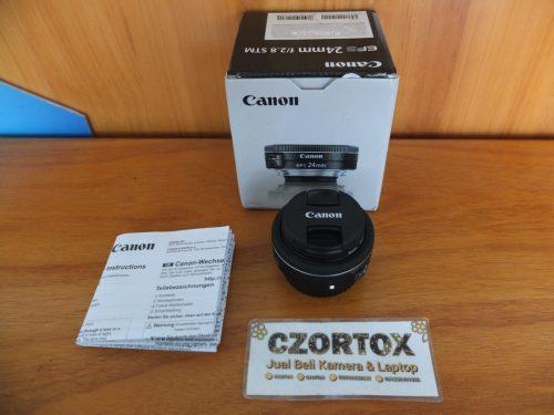 Lensa Canon EF-S 24mm F2.8 STM Like New