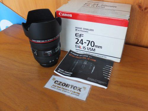 Lensa Canon EF 24-70mm F/4 L USM Mulus