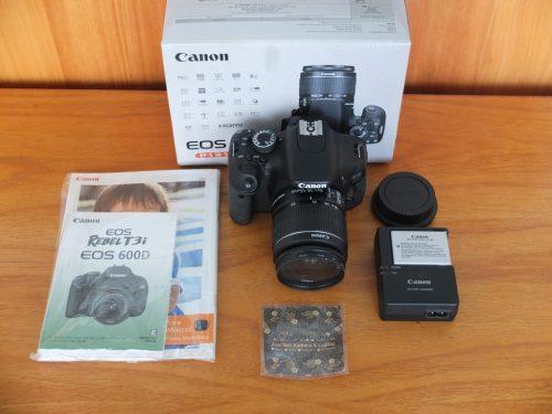 Canon 600D Lensa EF-S 18-55 Mulus Sc 8.xxx