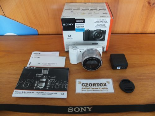 Sony a5100 Lensa 16-50mm Os White Sc 1.Xxx Mulus