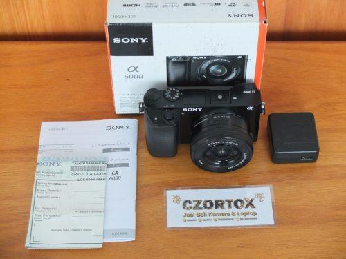 Sony A6000 Lensa 16-50mm OSS Black Mulus