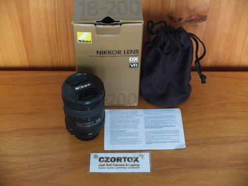 Lensa Nikon AF-S DX 18-200 VR II mm Mulus