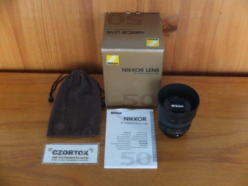 Lensa Nikon AF-S 50mm F1.8 Mulus