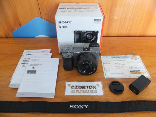Sony A6000 Lensa 16-50mm OSS Silver Umur 2 Minggu