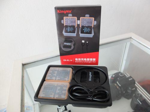 KingMa EN-EL14 Double Batre For Nikon Masih Garansi